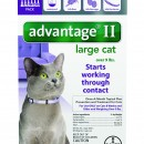 Advantage II  over 9 cat purple  6 packs