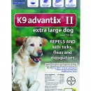 K-9 Advantix  II   over 55  blue   6 packs